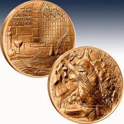 1 x 1 oz Copper Round Silver Towne...