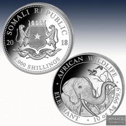 1 x 10 Oz Silbermünze 1000 SH Somalia...