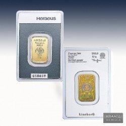 1 x 10 Gramm Kinebar Goldbarren...