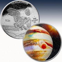 1 x 1 oz Silbermünze 1$ USA...