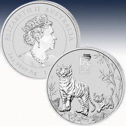 1 x 1 oz Silber 1$ Australien Lunar 3...