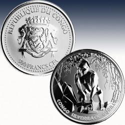 1 x 500 CFA Silbermünze Republik...