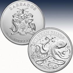 1 x 1 oz Silber 1$ Barbados...