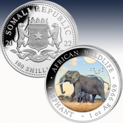 "1 x 1 Oz Silbermünze 100 SH ""Somalia..."