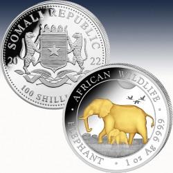 1 x 1 Oz Silbermünze 100 SH Somalia...