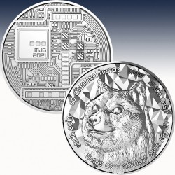 1 x 1 Oz Silverround Blockchain Mint...