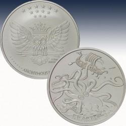 1 x 1 oz Silver Round Anonymous Mint...