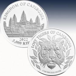 1 x 1 Oz Silbermünze 3000 KHR...