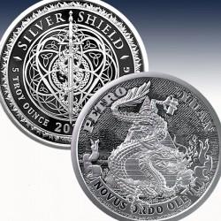 1 x 5 oz Silverround Silver Shield...