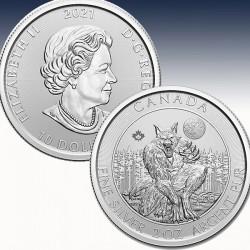 "1 x 2 Oz Silber 10$ Canada ""Creatures..."