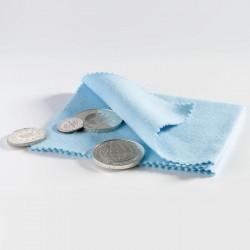 1 x 1 Münzpoliertuch - blau
