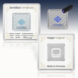 1 x 10 Gramm Silberbarren Geiger...