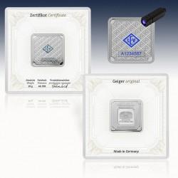 1 x 20 Gramm Silberbarren Geiger...