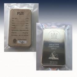 1 x 250 Gramm Münzbarren 2$ Fiji...
