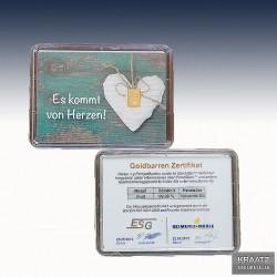"""1 x 1 Gramm Geschenk-Goldbarren """"Es..."""