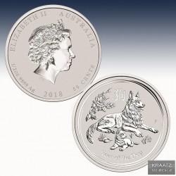 1 x 1/2 oz Silber 0,5$ Australien...
