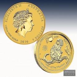 1 x 1/20 Oz Gold Lunar II Jahr des...