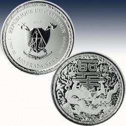 1 x 1 oz Silber 500 France CFA...