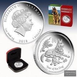 1 x 1 oz Silbermünze 1$ Lunar II...
