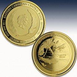 "1 x 1 oz Goldmünze 10$ St. Vincent & the Grenadines ""Seaplane 2019"" -PL-in Certi-Lock®"