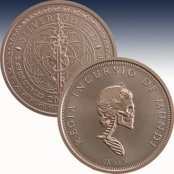 1 x 2 oz Copperround Silver Shield...