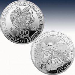 1 x 1/4 oz Silbermünze 100 Dram...