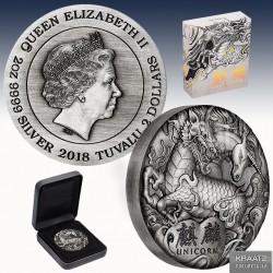 "1 x 2 oz Silber 2$ Tuvalu ""Unicorn..."