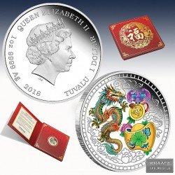 1 x 1 oz Silbermünze 1$ Tuvalu...