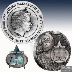 "1 x 2 oz Silber 2$ Tuvalu ""Star Trek..."