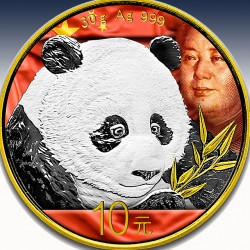 1 x 30g Silber 10 Yuan China Panda...
