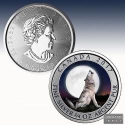 """1 x 3/4 Oz Silber 2$ Canadian """"Wolf..."""