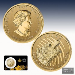 "1 x 1 Oz 200$ Gold Canada ""Call of..."